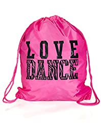 Activewear Apparel Dance Drawstring Bag (One Size, Pink)