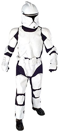 Deluxe Clone Trooper Adult Costume (Standard, Up to Size 44 Jacket)