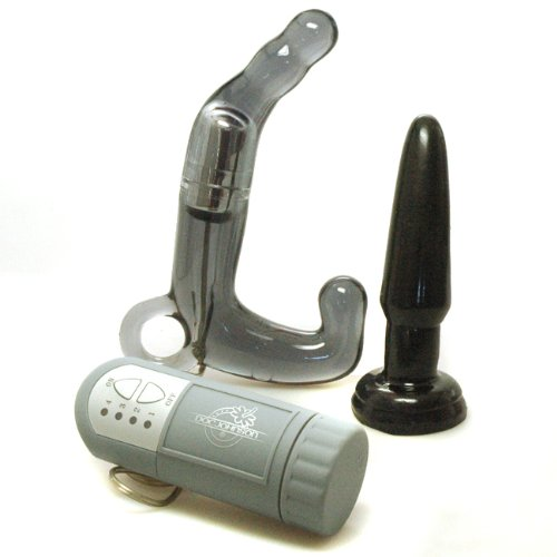 Doc Johnson Men´s Prostate Massager Wand Black Anal Sex Toy Kit
