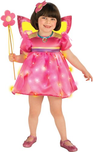 Rubies Dora The Explorer Light-Up Crystal Fairy Child Costume, Small