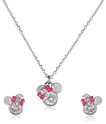 Disney Silver Plated Jewellery-Set for Kids (Multi-Color) (SB110152N+E/1)