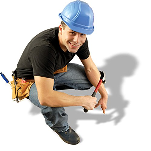 Regular Brim Hard Hat (Ratchet Suspension) - BLUE-One-Size occunomix one size fits all royal blue cotton hard hat shade