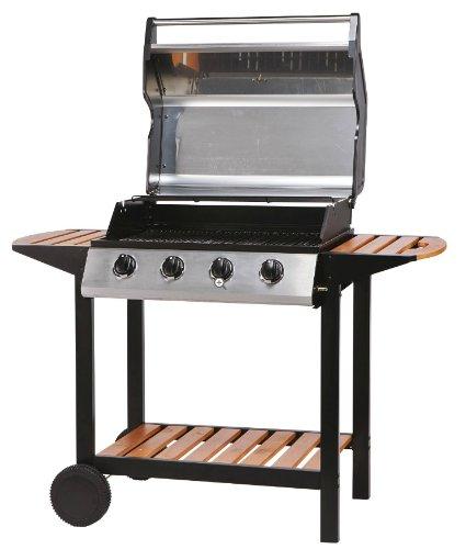 Premier 4-Burner Gas Barbecue with Side Shelves