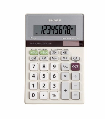 Best Price Sharp HO EL-330TB 8 Digit Solar and Battery Powered LCD CalculatorB00006IF9Q