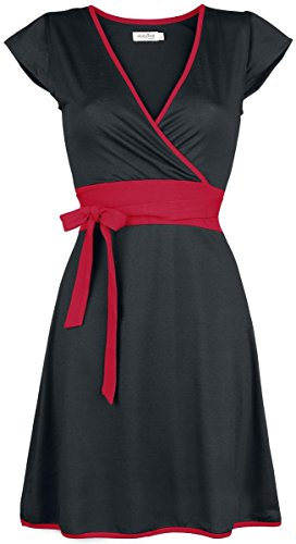 Innocent Hana Dress Abito nero/rosso XL