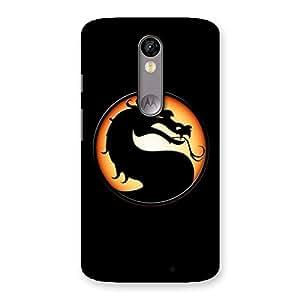 Premium Mortal Black Back Case Cover for Moto X Force