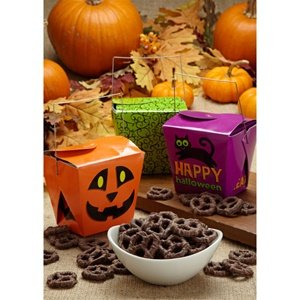 Halloween Take-Out Boxes with Milk Chocolate Pretzels