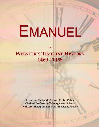 Emanuel: Webster's Timeline History, 1469 - 1958