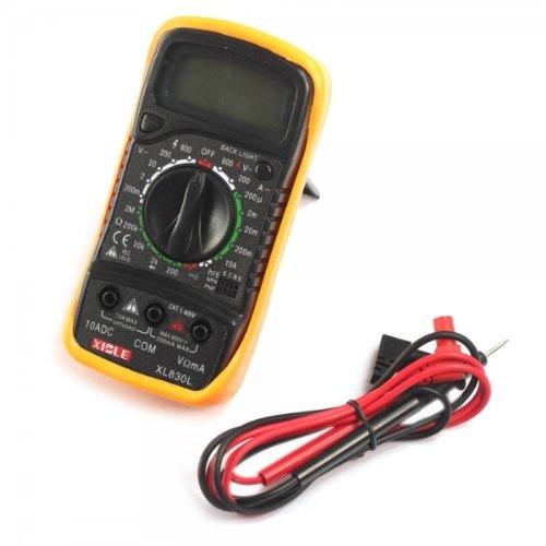 Mondpalast XL830L - Dispositivo con funciones de voltímetro, multímetro, ohmímetro, amperímetro, color negro y amarillo