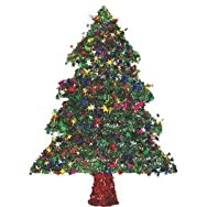F C Young 18W-TREE Green Tinsel Specialty Tree-18