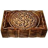 Wood Box Tree of Life 9x6 inch