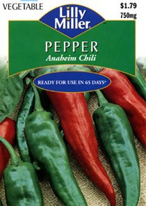 "Lilly Miller PEPPER ""Anaheim Chili"" #7640 750mg Seed Packet"