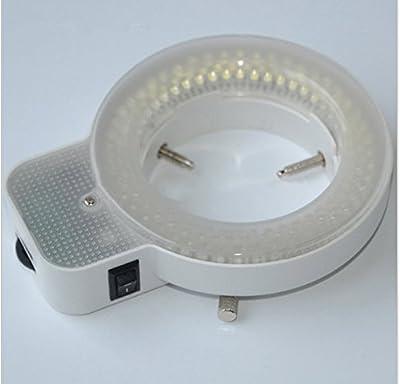 GOWE 7X-45X Industrial Binocular Microscope Articulating Arm Pillar Clamp 144 LED Stereo Zoom Microscope