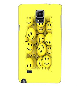 PrintDhaba Smilies D-3230 Back Case Cover for SAMSUNG GALAXY NOTE 2 (Multi-Coloured)