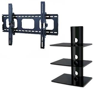 Cheap  PROMOUNT Package Deal! LED LCD Plasma TV Wall Mount Bracket eith Tilt for 32″