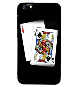HUAWEI HONOR 4X CARDS Back Cover by PRINTSWAG