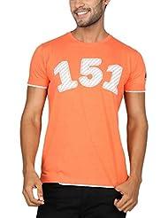 Paani Puri Men's Round Neck Cotton T-Shirt (peach)