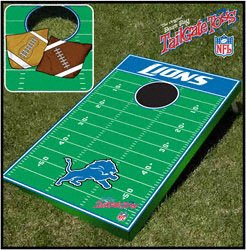Detroit Lions NFL Football Field Bean Bag Toss Game by Unknown