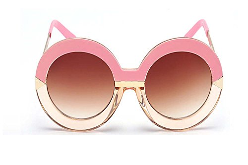 Darkey Wang Woman Fashion Arrow Pink-rimmed Brown Tablets Round Sunglasses (Vicks Humidifier Monitor compare prices)