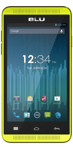 Blu Dash Music 4.0 D272A Unlocked Dual Sim Phone (Yellow)