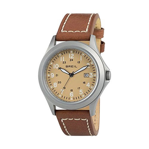 Watch Breil Army SS Man Steel TW1480 Khaki Leather Strap Brown