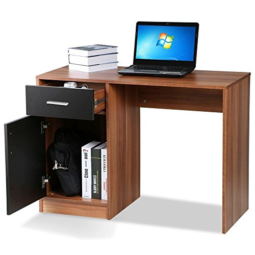 tinkertonk-home-office-wood-computer-desk-with-filing-storage-cabinet-cupboard-and-drawers-black-and