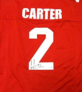 Autographed Cris Carter Jersey - Ohio State Buckeyes Red - PSA DNA Certified -... by Sports+Memorabilia