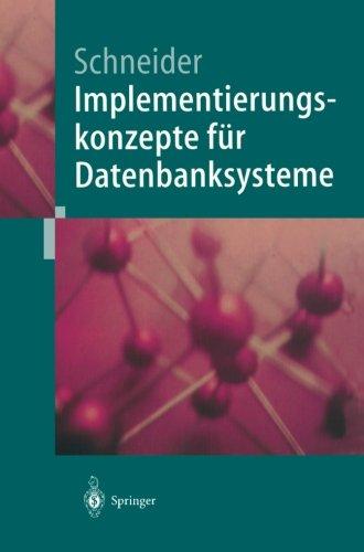 Implementierungskonzepte fur Datenbanksysteme  [Schneider, Markus] (Tapa Blanda)