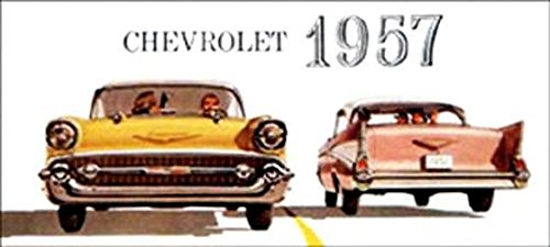1957 Chevy Passenger Car Dealers Sales Brochure - Includes Bel Air, One-Fifty 150, Two-Ten 210, Wagons, Covertibles, Coupes, Sedans, 4-Door, 2-Door. Chevrolet - Advertisment Pamphlet Ad