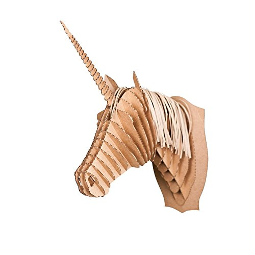 Carton-SAFARI-Trophe-Tte-danimal-3D-Moyen-photo-puzzle-animaux-Marron-cardboardsafari-XTF24-Merlin-LA-LICORNE