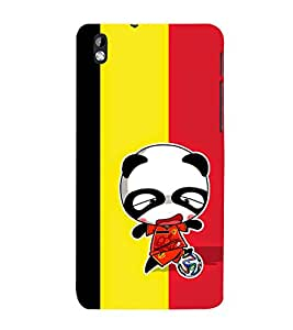 99Sublimation Angry Girl and Foot ball 3D Hard Polycarbonate Back Case Cover for HTC Desire 816