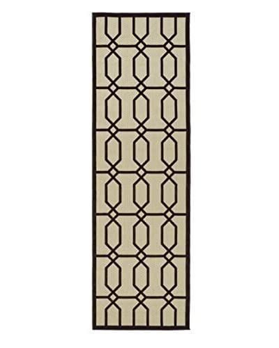 Kaleen Five Seasons Indoor/Outdoor Rug, Brown, 2' 6 x 7' 10 Runner