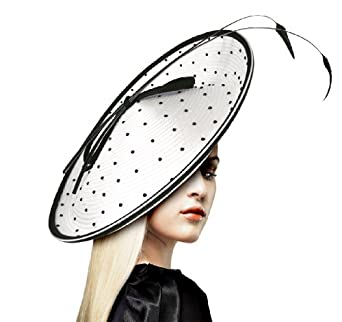 Kentucky Derby Fascinator Hat - White/black