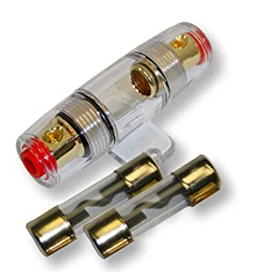 IMC Audio 1Amp Inline AGU Fuse Holder Fits 8