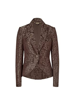 apart damen blazer sakko jacquard blazer 891698 gr 34 braun dunkelbraun braun gold. Black Bedroom Furniture Sets. Home Design Ideas