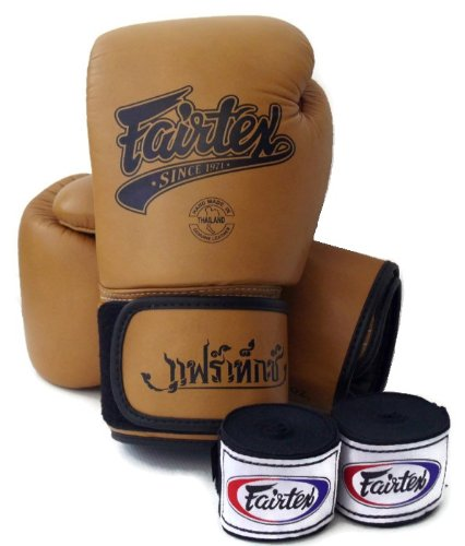 Fairtex Muay Thai Boxing Gloves BGV1 Limited Editon Classic Brown Gloves & Handwraps Size: 10 12 14 16 oz Training & Sparring All Purpose Gloves for Kick Boxing MMA K1 Tight Fit Design