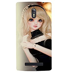 Printvisa Baby Doll Dressed Up In Black Back Case Cover for Oppo Find 7
