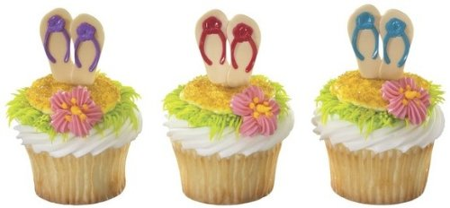 Summer Flip Flop Cupcake Picks ~ 24 pcs