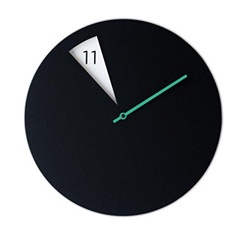 Sabrina Fossi Design - Orologio da parete, innovativo e minimale FreakishCLOCK BLACK / GREEN
