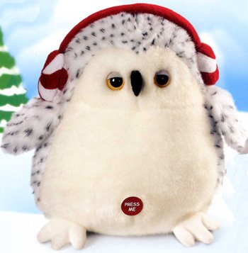 Owl Plush Stuffed Animal - Blizzie Medium - 1