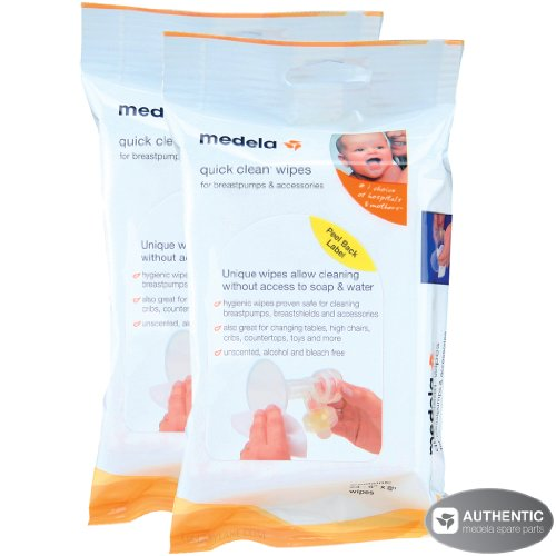Medela Quick Clean Breastpump & Accessory Wipes - 24 Pack (Set of 2) - 1
