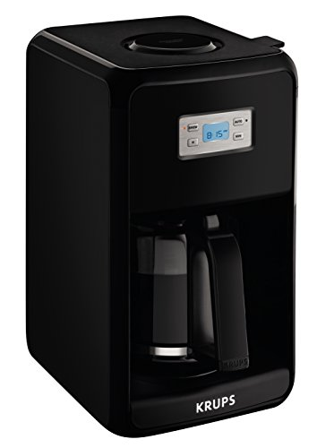 KRUPS EC311 SAVOY Programmable Digital Coffee Maker Machine with Glass Carafe and LED Control ...