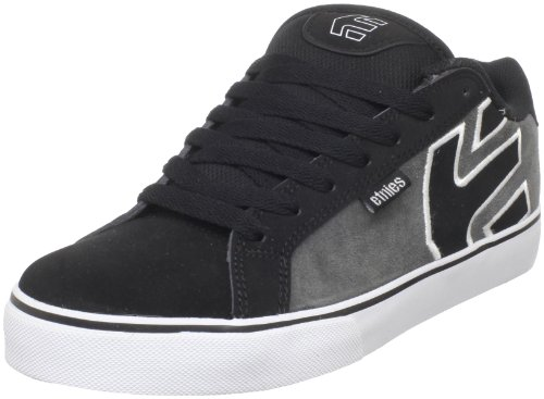 Etnies Men's Fader Vulc Skate Shoe,Black/Grey,10 M US