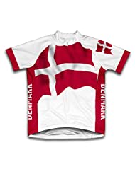 Denmark Flag Short Sleeve Cycling Jersey for Women