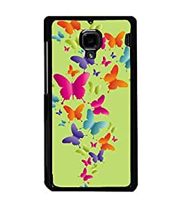 printtech Butterfly Back Case Cover for Xiaomi Redmi 1S::Xiaomi Redmi (1st Gen)