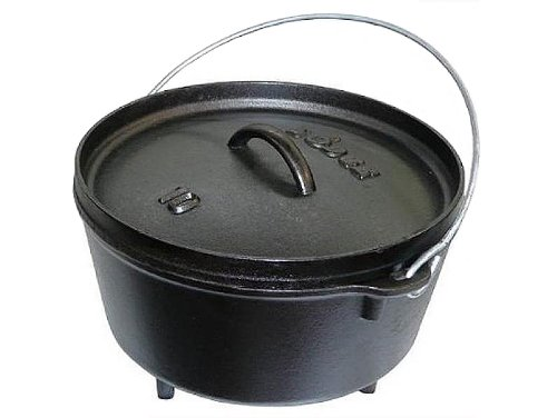 Lodge Seasoned 5 Quart Deep Camp Dutch Oven L10DCO3