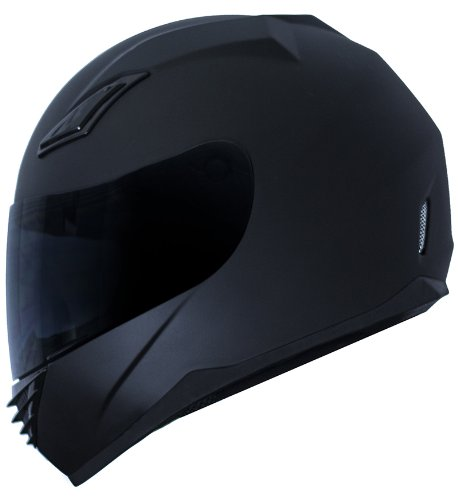 DUKE MATTE BLACK FULL-FACE MOTORCYCLE HELMET DK-140