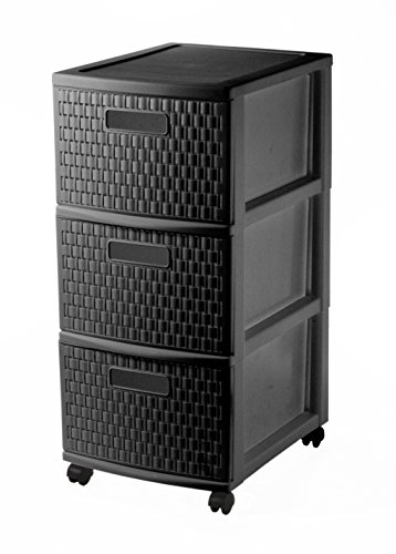 Sundis-Rollcontainer-Country-in-Rattan-Optik-Rollwagen-38x30x655-cm-mit-Schubladen-aus-Kunststoff-PP-Schubladenschrank-mit-3-Schben-Schubladenturm-in-schwarz-Sundis-4481080080