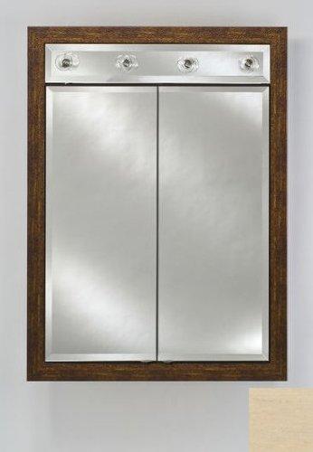 Signature Double Door Medicine Cabinet Lights Finish: Arlington Pickled, Size: 24