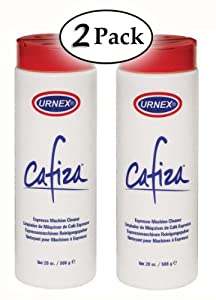 Urnex Cafiza, 20oz Espresso and coffee machine cleaner powder 2 PACK (40 oz.) from Urnex